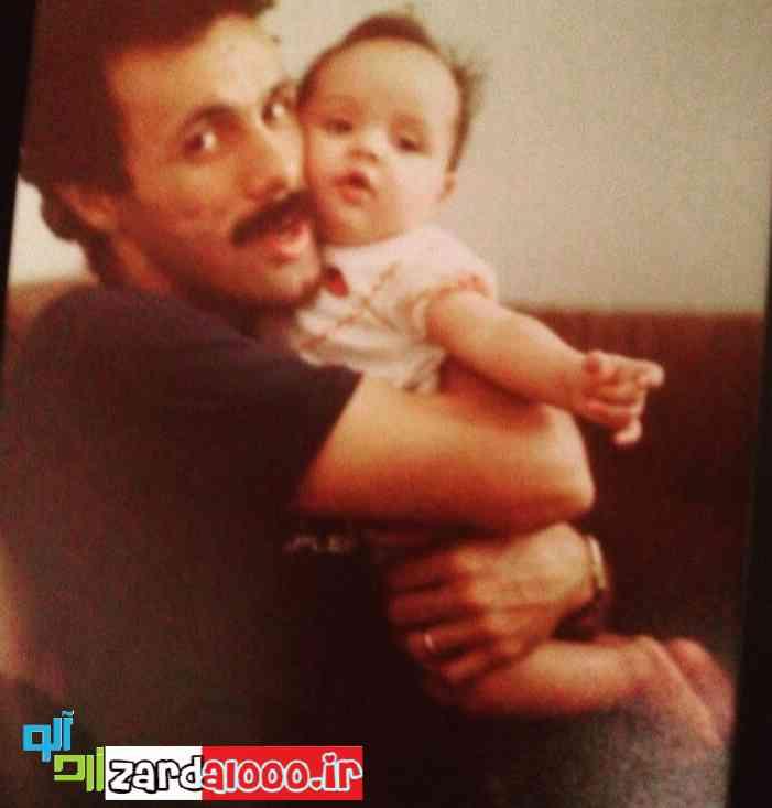 عکس کودکی ترانه علیدوستی با پدرش