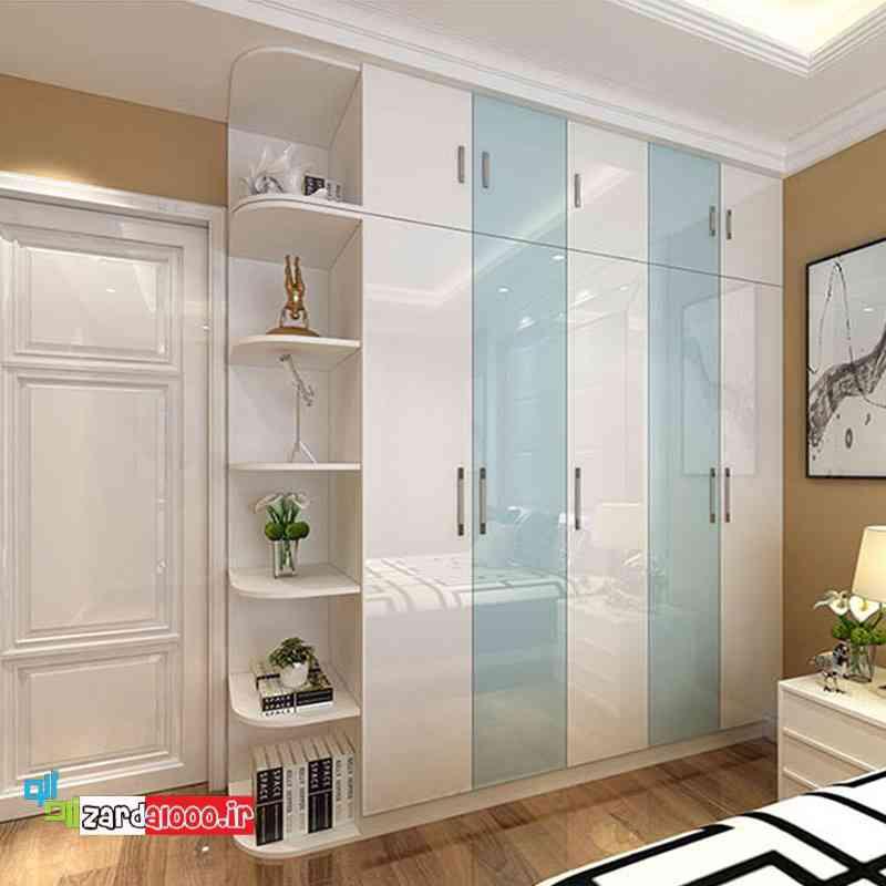 قفسه بندی کمد دیواری-جدیدترین مدل کمد دیواری ریلی-رنگ کمد دیواری اتاق خواب