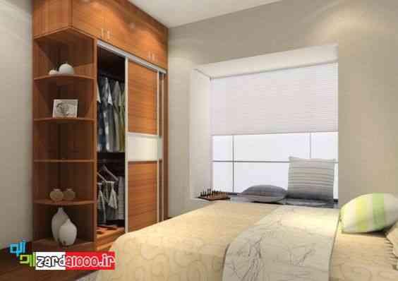مدل کمد دیواری اتاق خواب-مدل کمد اتاق خواب-انواع مدلهای کمد دیواری