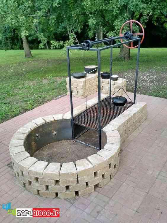 عکس باربیکیو شیک برای ویلا و خانه باغ