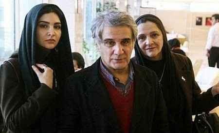 مهدی هاشمی به همراه همسر اول و دخترش