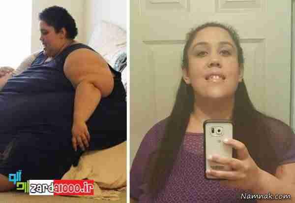 زن جوانی با اراده فوق العاده در کاهش وزن